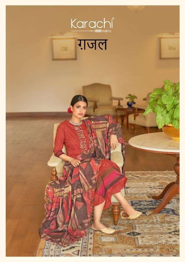 Kesar Ghazal Pure Lawn Cotton Salwar Kameez Catalog Dealer Discounted Price