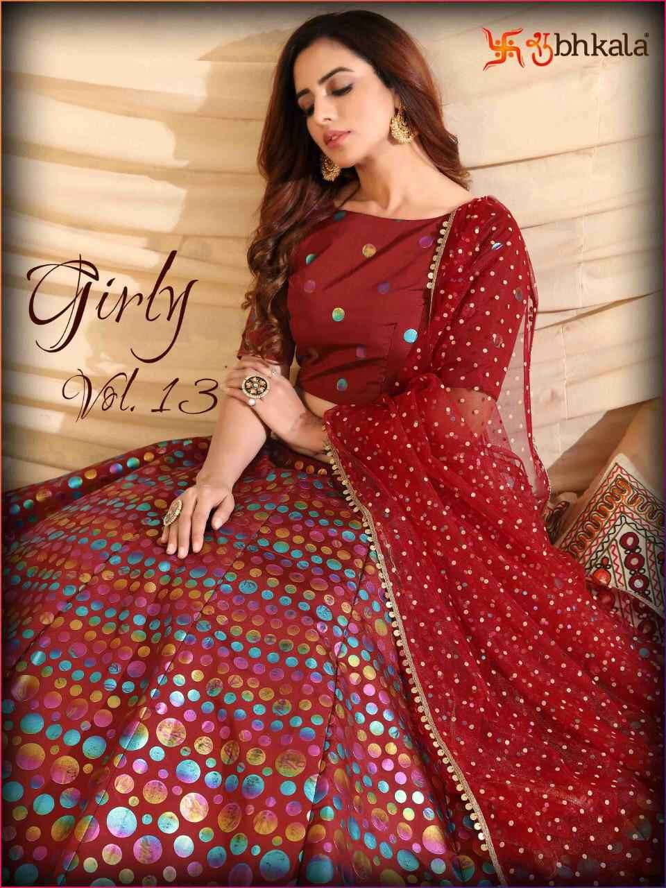 Khushboo Girly Vol 13 Designer Lehgna Choli New Collection at Best Rate