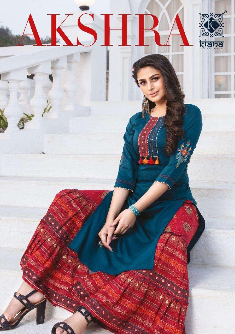 Kiana Akshra Fancy Kurti With Sharara Plazo in Wholesale Price