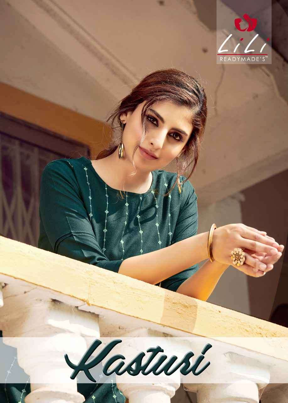 Lili Kasturi fancy Kurti Pant Catalog Wholesale Price In Surat