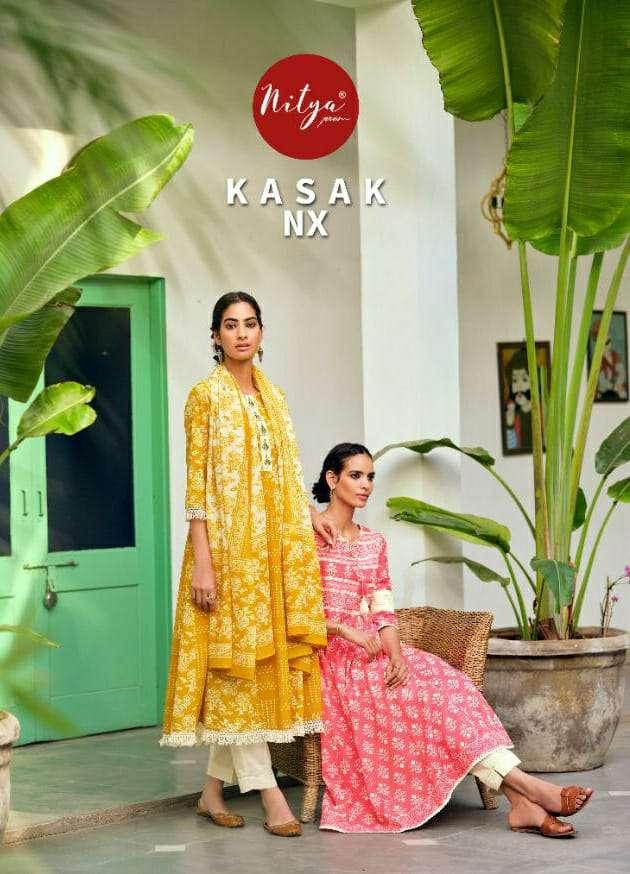 LT Fabrics Nitya Kasak Nx Designer Readymade Collection In Wholesale