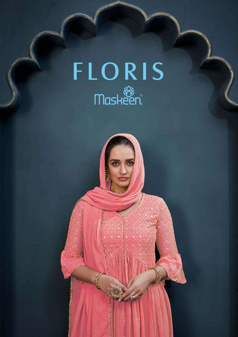 Maskeen Floris Designer Georgette Readymade Collection With Best Price