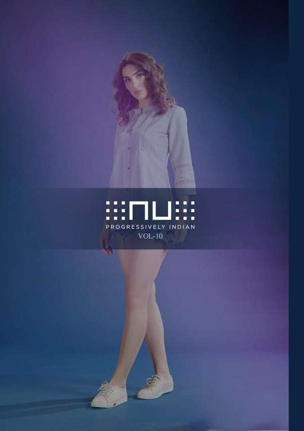 Nu Vol 10 Fancy Stylish Western Short Tops Collection at Best Rate
