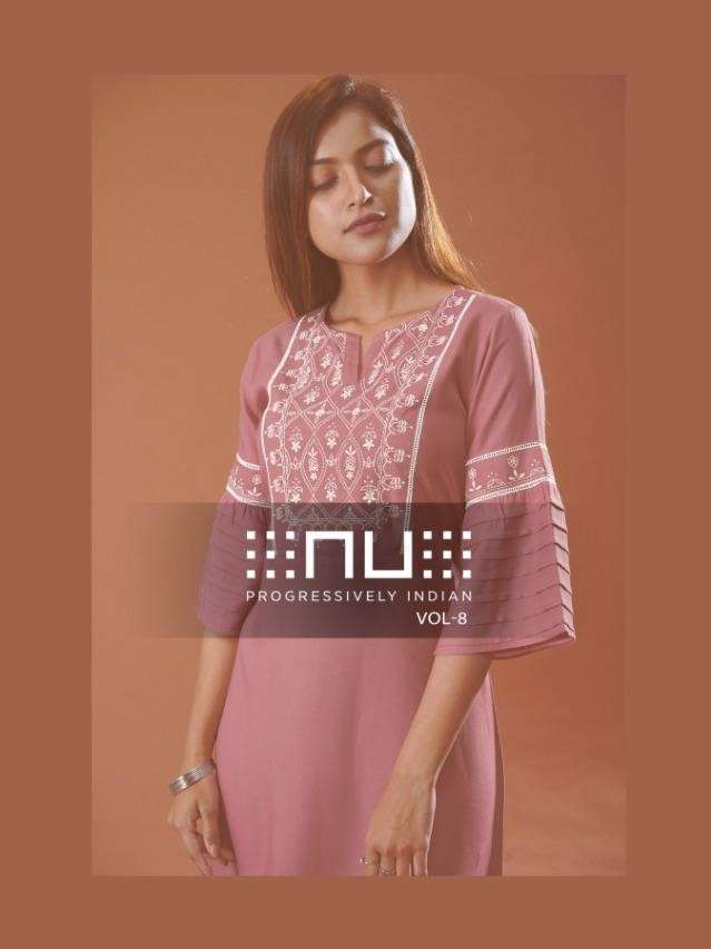 NU Vol 8 Fancy Rayon With Embroidery Tunics In Wholesale Price