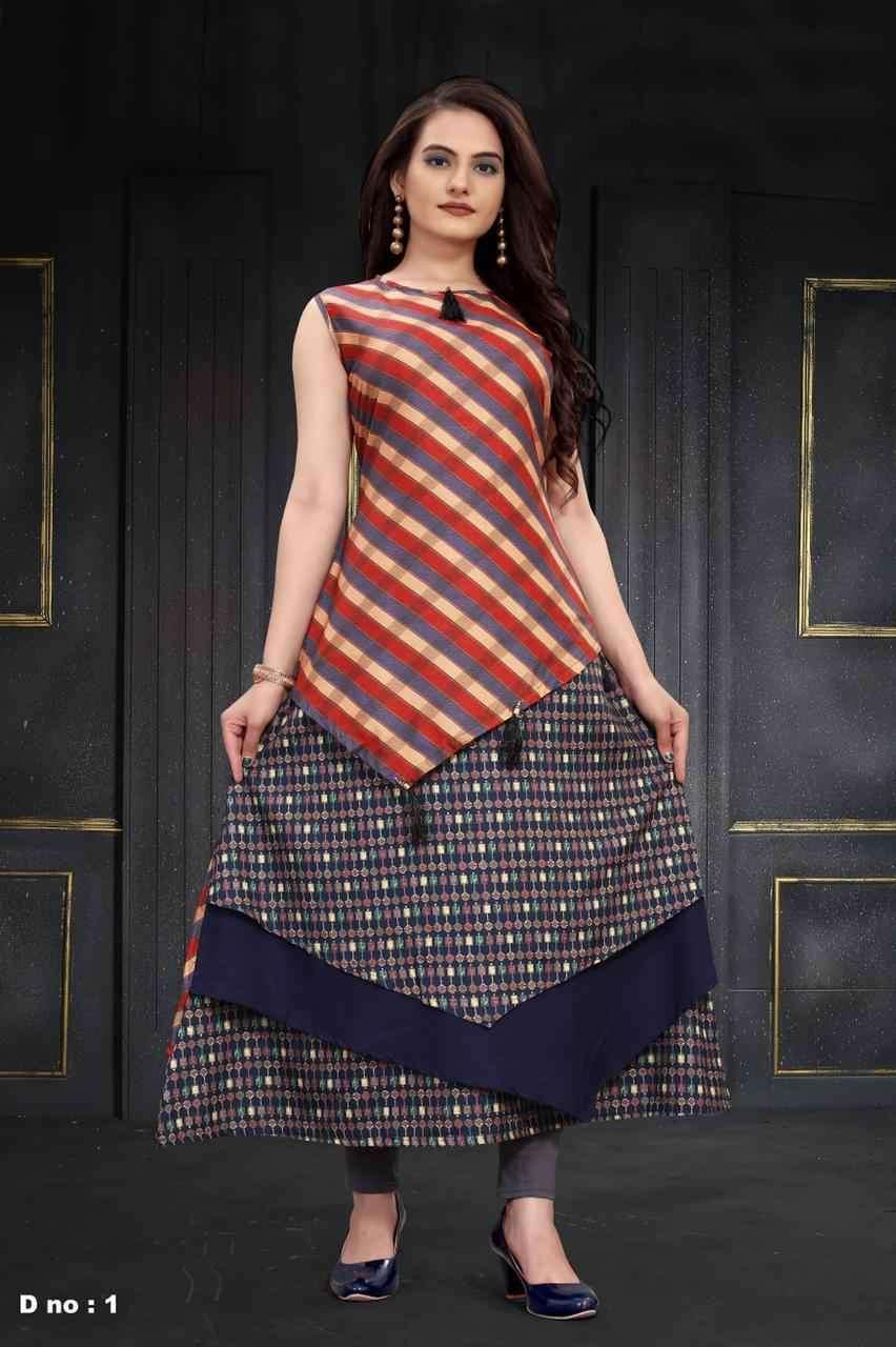 Peafowl Vol 68 Designer Readymade Digital Print Gown Catalog Wholesaler