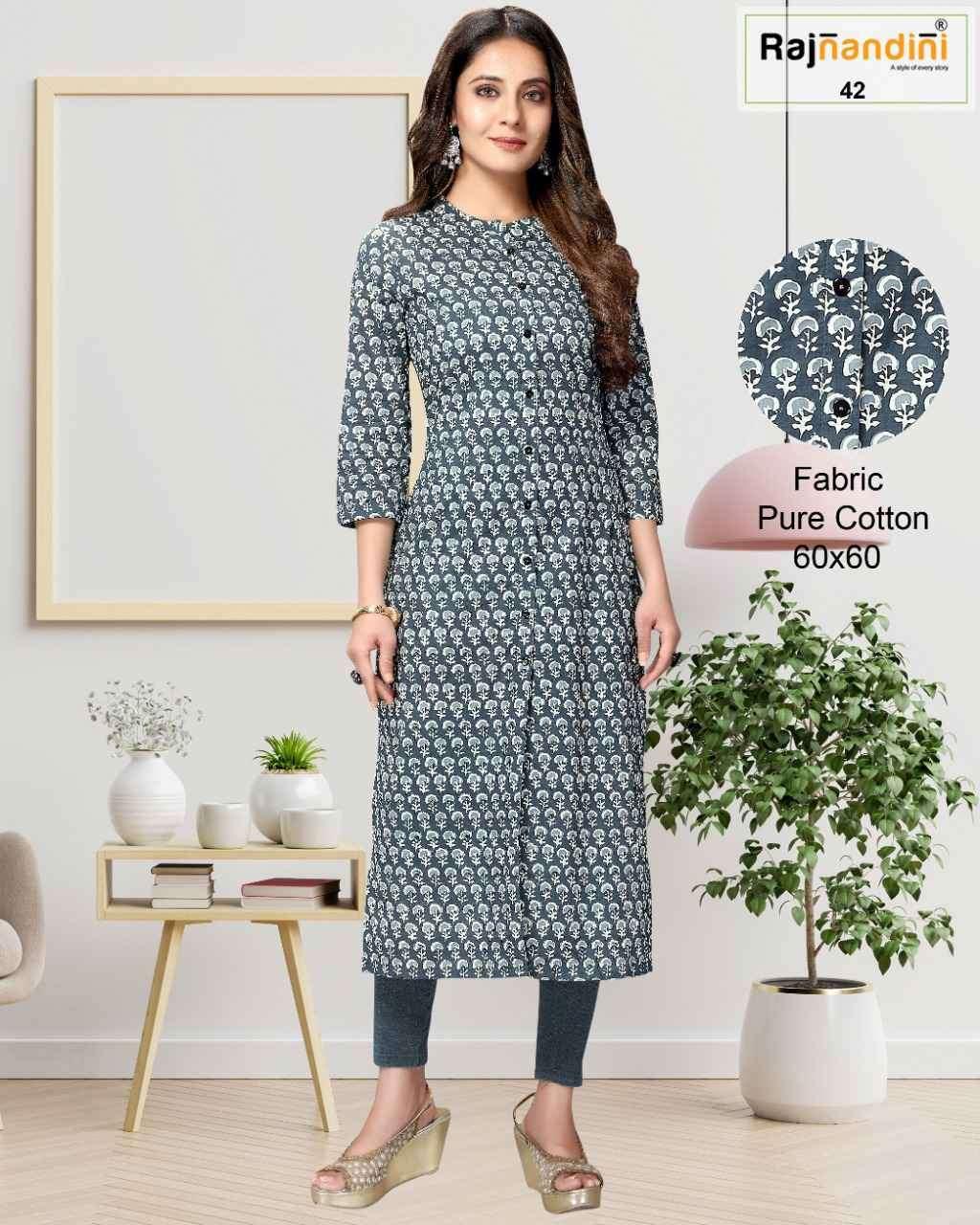 Rajnandini Vol 11 Jaipur Print Cotton Kurti New design Wholesaler