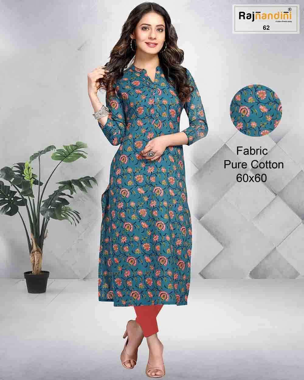 Rajnandini Vol 8 Casual Wear Jaipuri Print Kurti Catalog Supplier