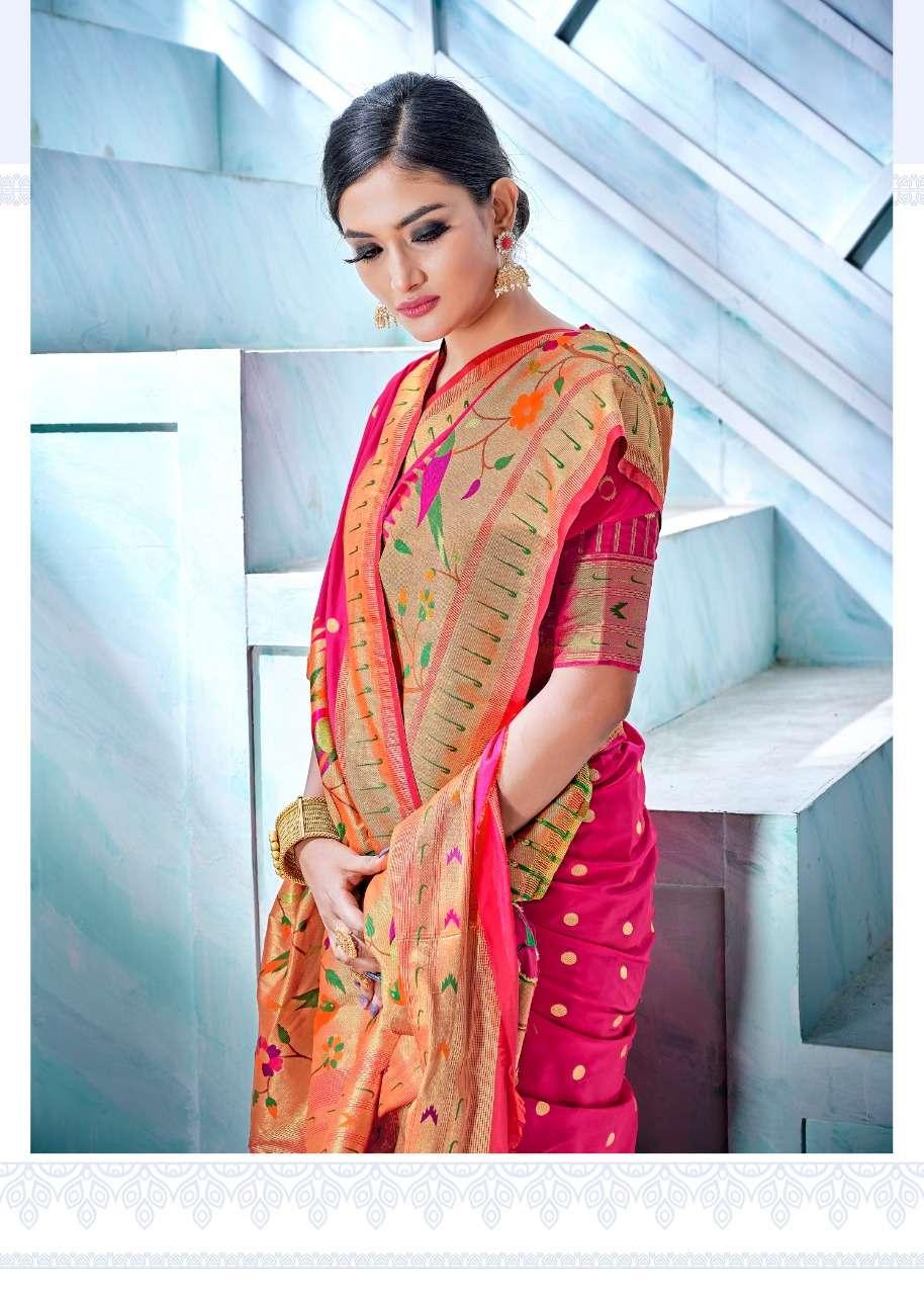 Rajyog Aarush Silk Ethnic Wear Paithani Silk Saree catalog Dealer