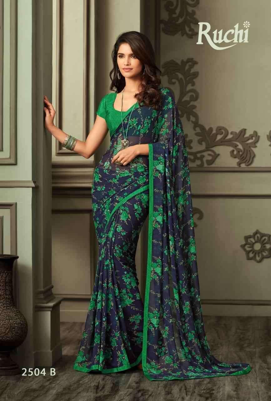 Ruchi Jasmine 2504 Colors Printed Georgette Saree New Designs