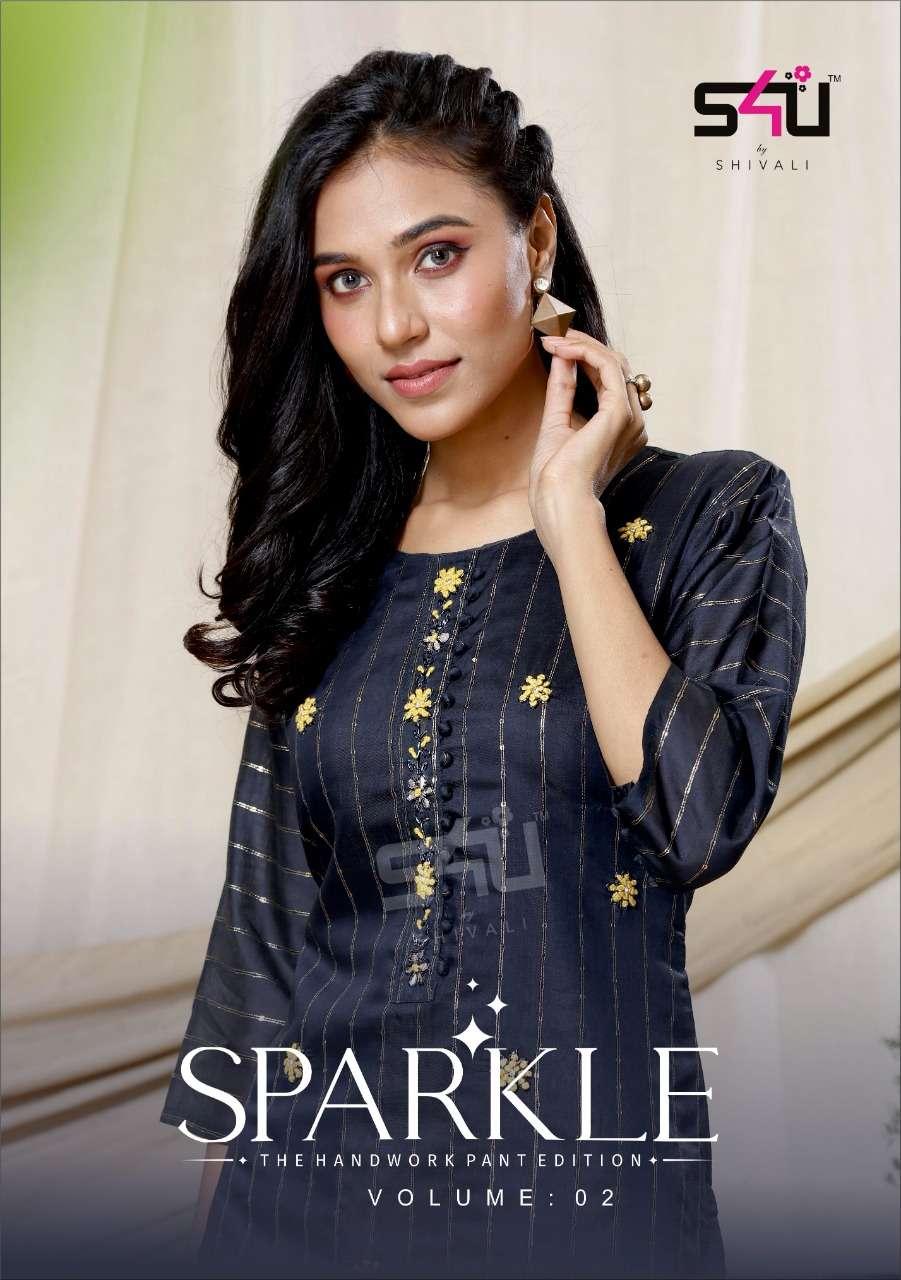 S4U Sparkle Vol 2 Fancy Designer Kurti With Pant Collection