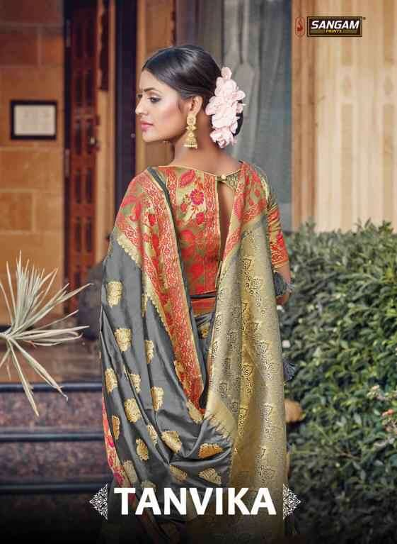 Sangam Tanvika Exclusive Silk Saree latest catalog Supplier