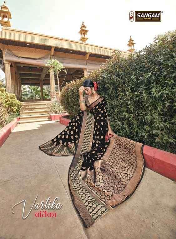 Sangam Vartika Cotton handloom Saree New Designs at Best Rate