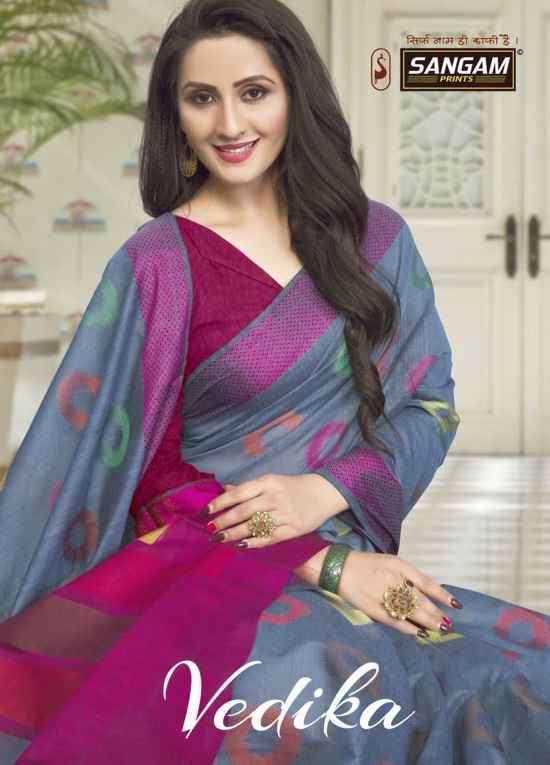 Sangam Vedika Handloom Cotton Ladies Saree Catalog Supplier