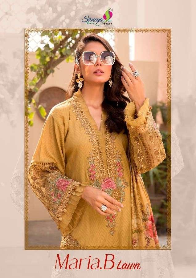Saniya Trends Maria.B Lawn 2021 Latest Pakistani Suits Designs Wholesale