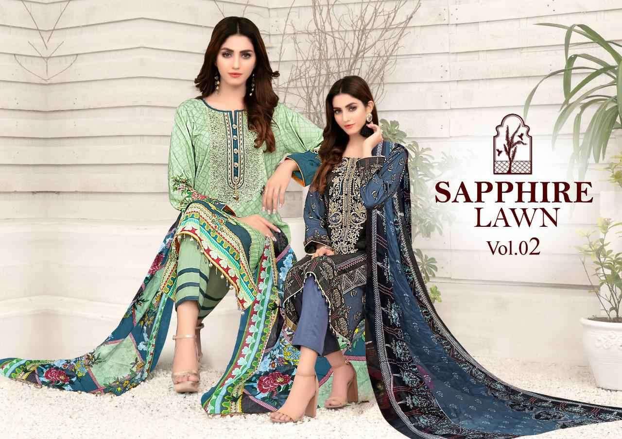 Sapphire Lawn Vol 2 Mariya B Lawn Collection karachi Print Suit new Designs