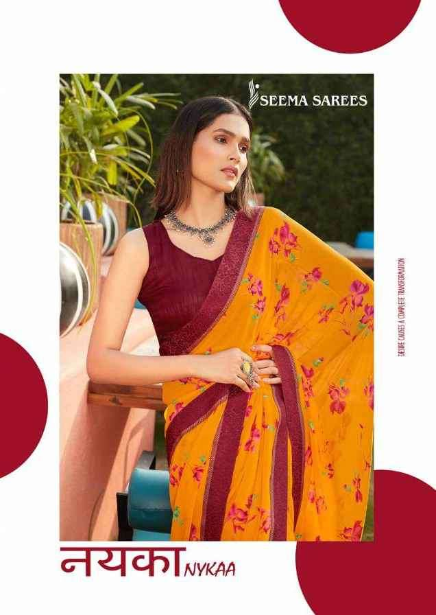 Seema Sarees Nykaa Pure Weightless Fancy Saree Collection