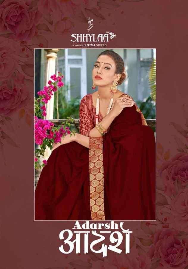 Shhylaa Adarsh Fancy Ethnic Wear Ladies Saree Catalog Wholesaler