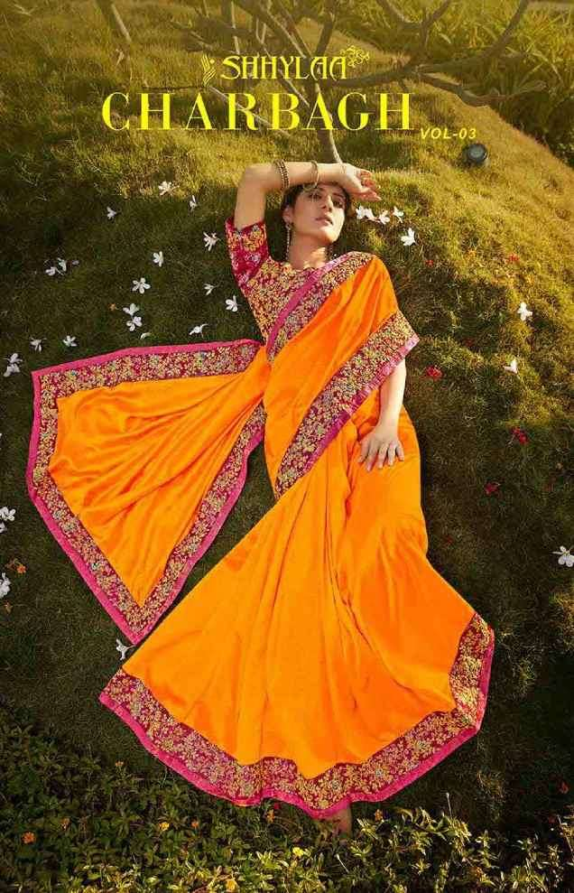 Shhylaa Charbagh Vol 3 Exclusive Border Partywear Saree New Designs
