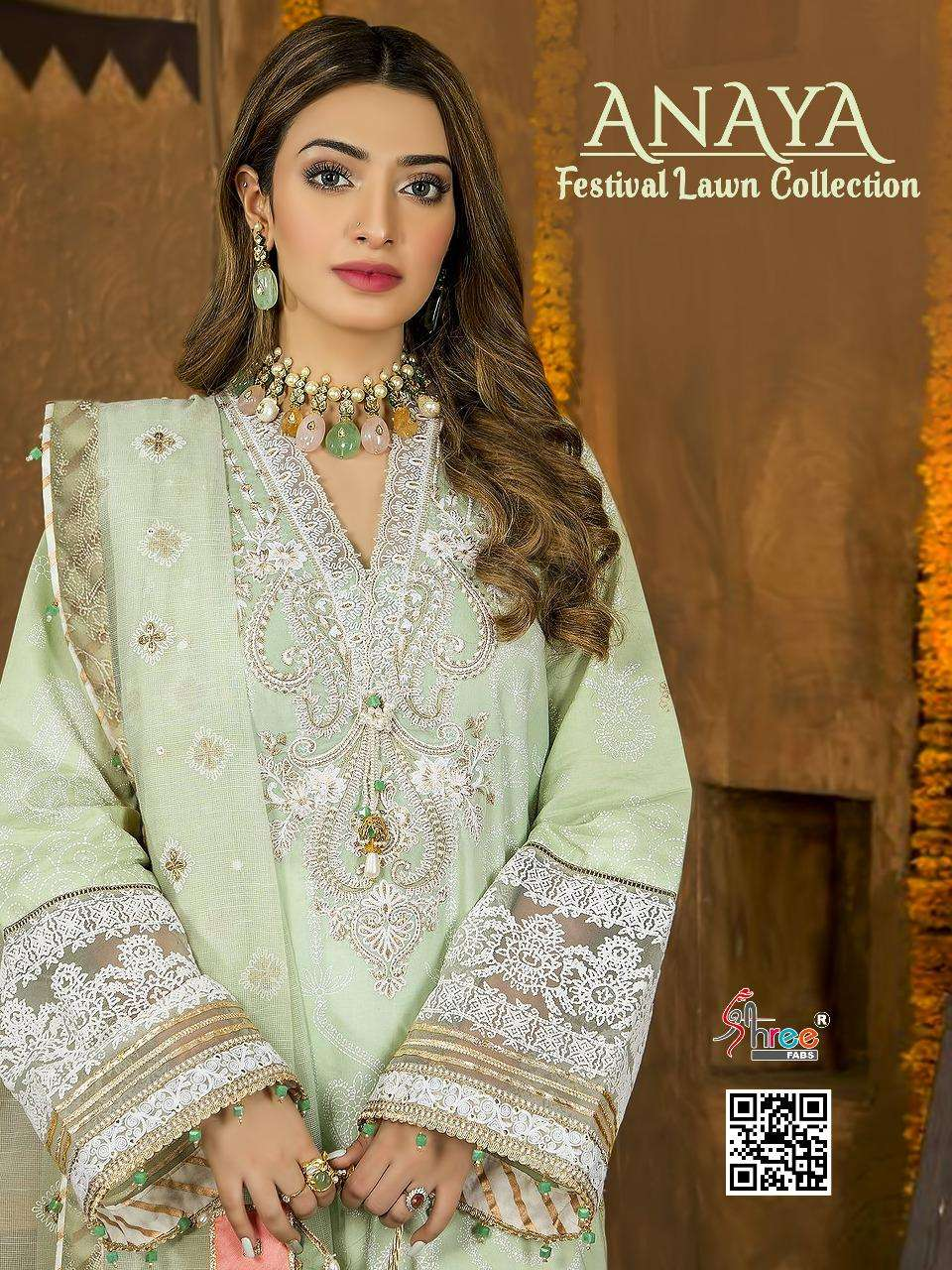 Shree Fabs Anaya Festival Lawn Collection Pakistani Cotton Suits Dealer