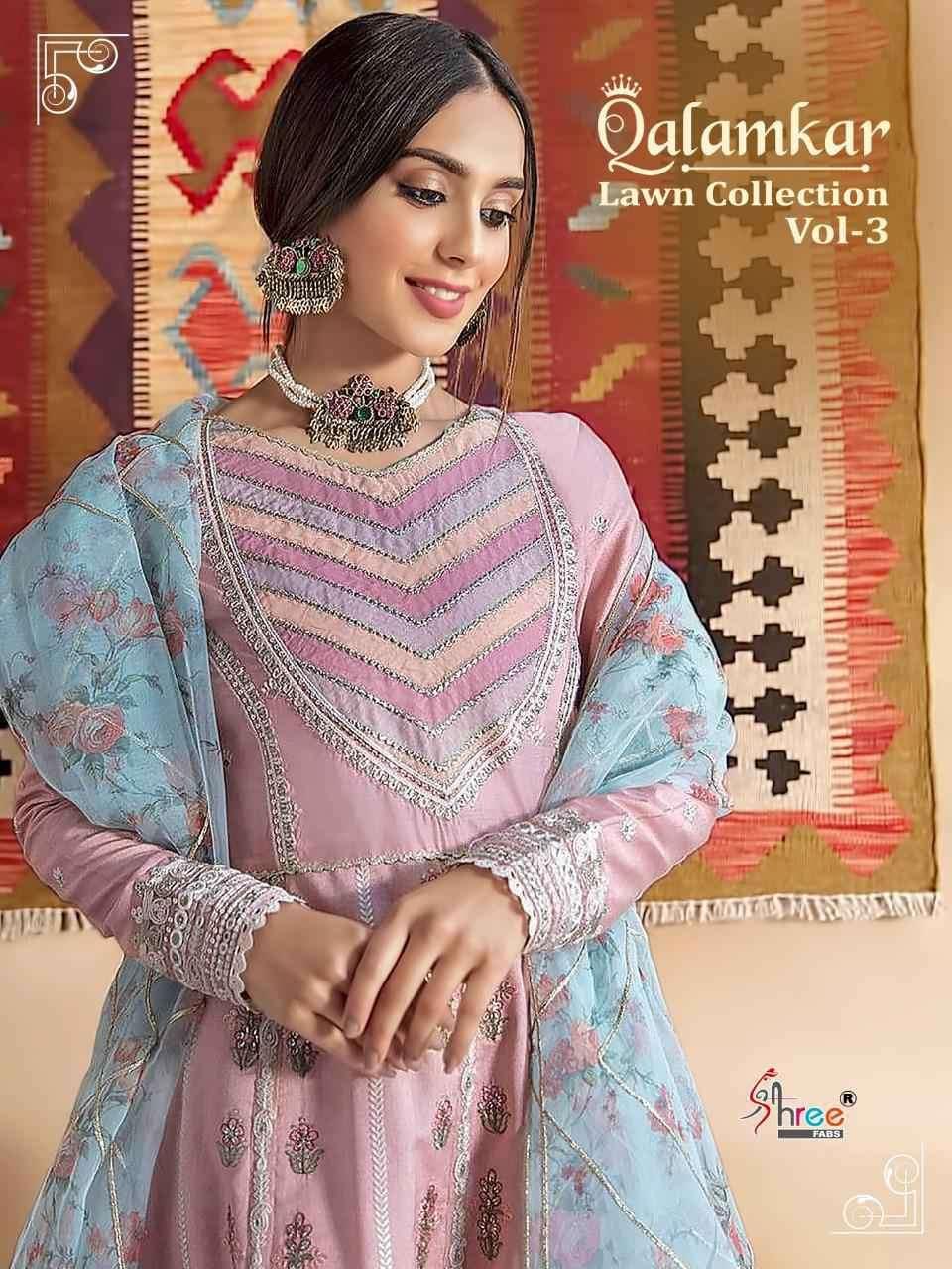 Shree Fabs Qalamkar Lawn Collection Vol 3 Exclusive Fancy Pakistani Ladies Suits