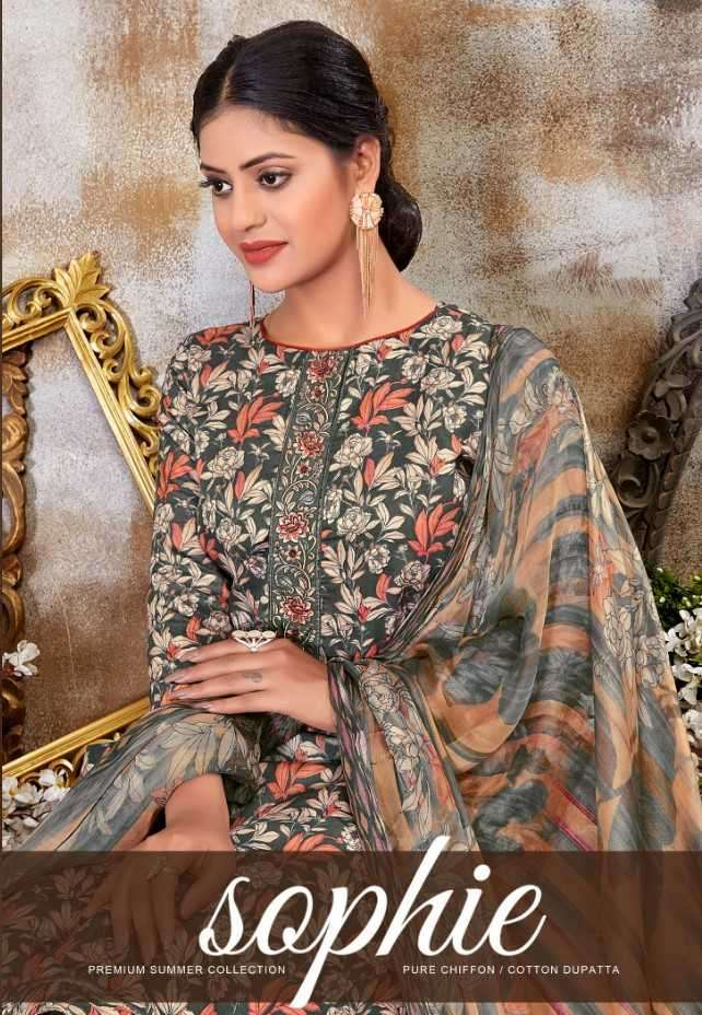 Siyona Sophie Cotton Satin Suits in Best Discounted Price Catalogue