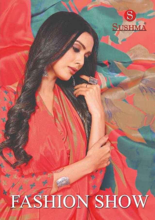 Sushma Fashion Show Printed Crepe Saree New Collection