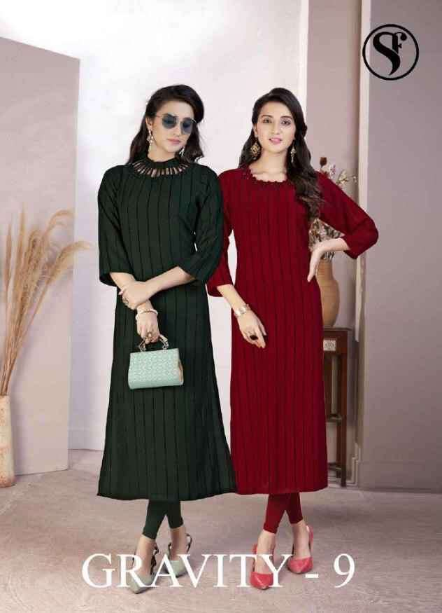 Sweety Gravity Vol 9 Rayon Kurti Latest Designs at Best Rate