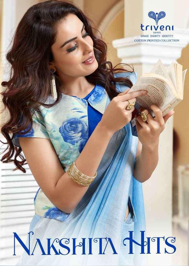 Triveni Nakshita Hits Fancy Cotton Indian Saree New designs
