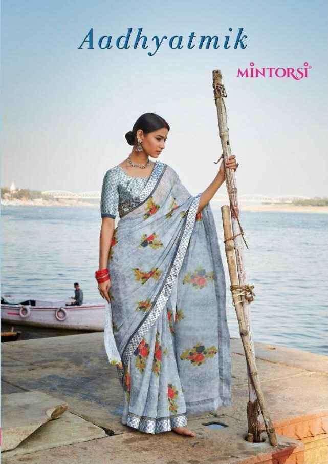 Varsiddhi Mintorsi Adhyatmik Weightless Printed Saree New Catalog Supplier