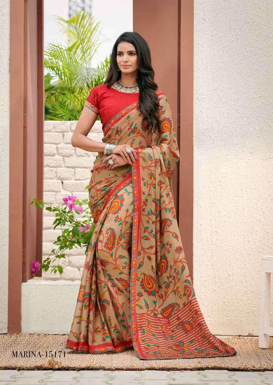 Varsiddhi Mintorsi Marina Fancy Printed Georgette Chiffon Saree New Designs