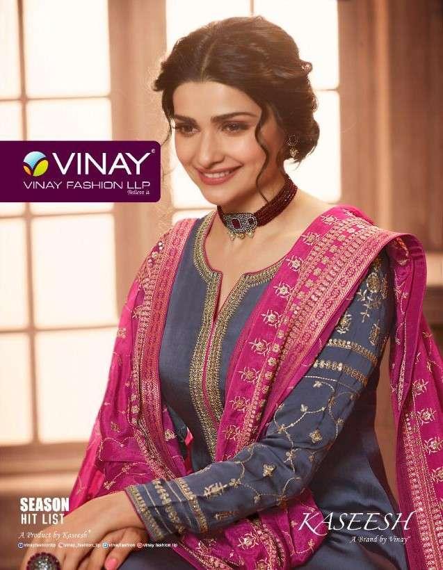 Vinay Fashion Kaseesh Season Hitlist Designer Straight Partywear Suits Dealer