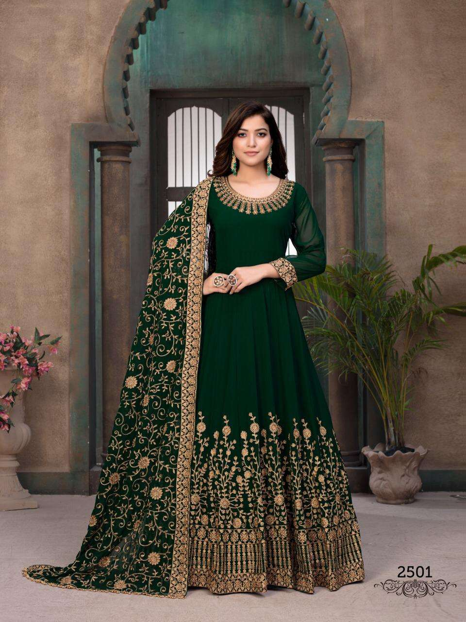 Aanaya Vol 125 designer Work Anarkali Long Dress Collection