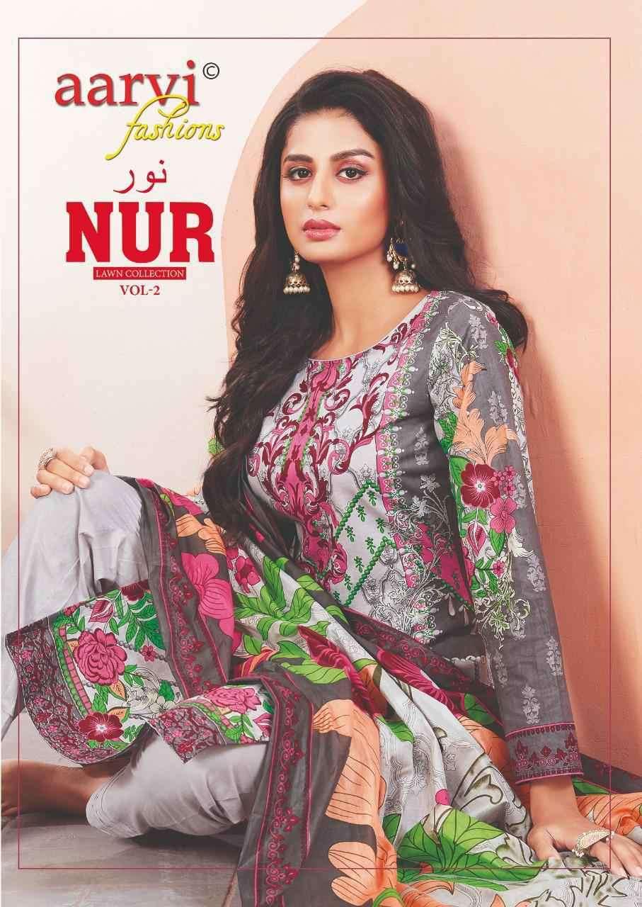 Aarvi Nur Vol 2 Cotton Dress Material Low range Cotton Suits