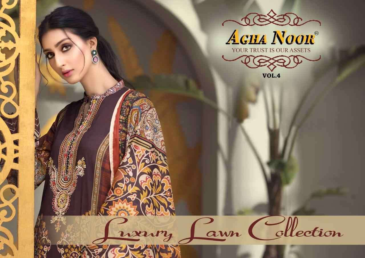 Agha Noor Vol 4 Luxury Lawn Collection Best Wholesale Price