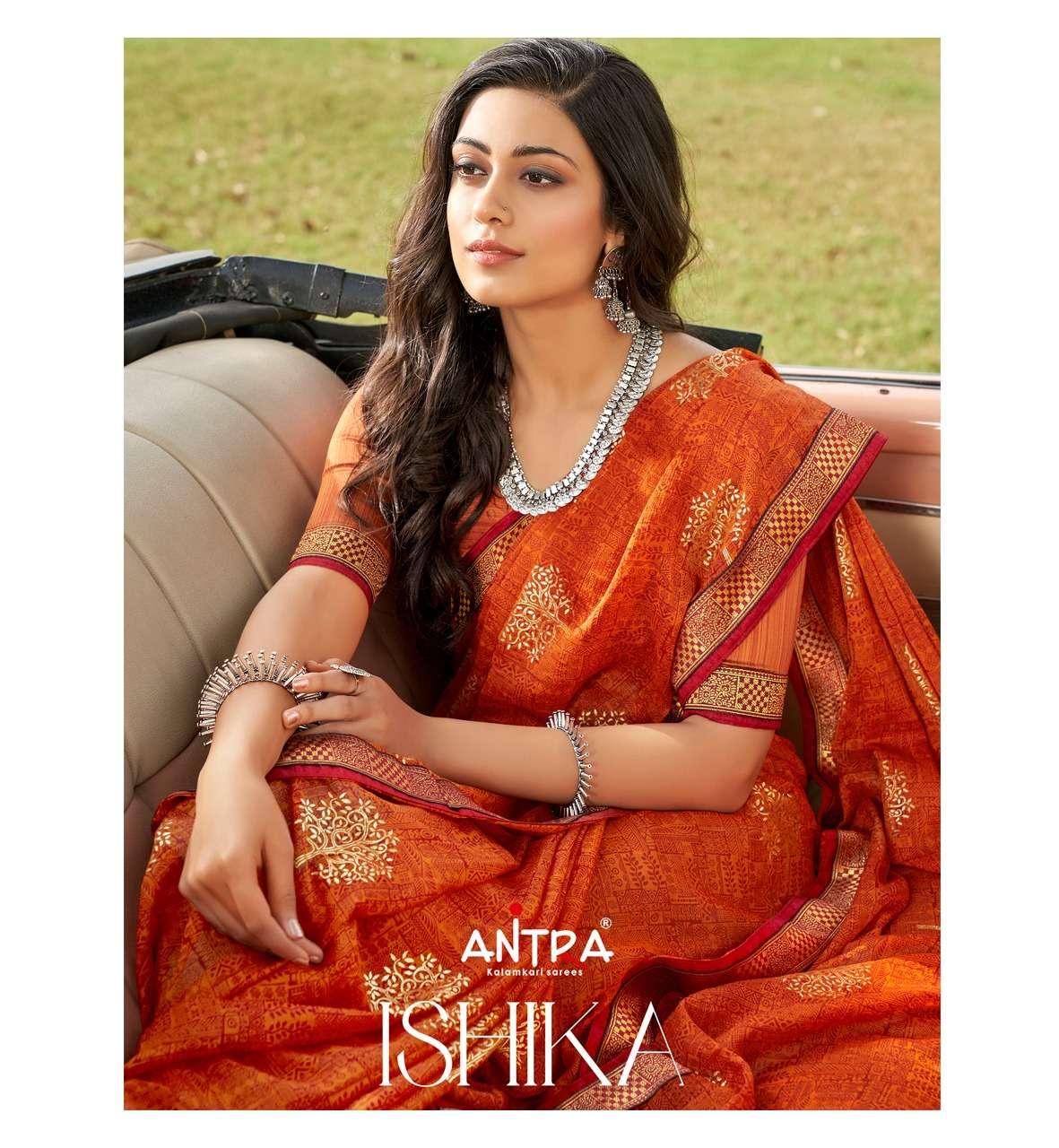 Antra Ishika Vol 1 fancy Bandhani Print Chiffon Saree New Catalog Supplier
