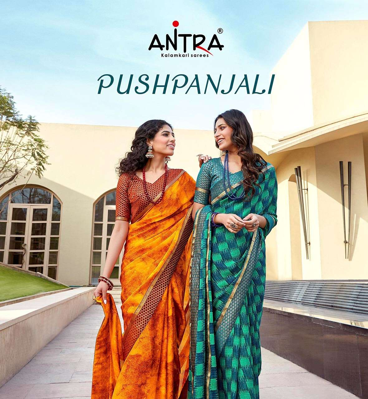Antra Pushpanjali Fancy Chiffon Saree Catalog Wholesale Price