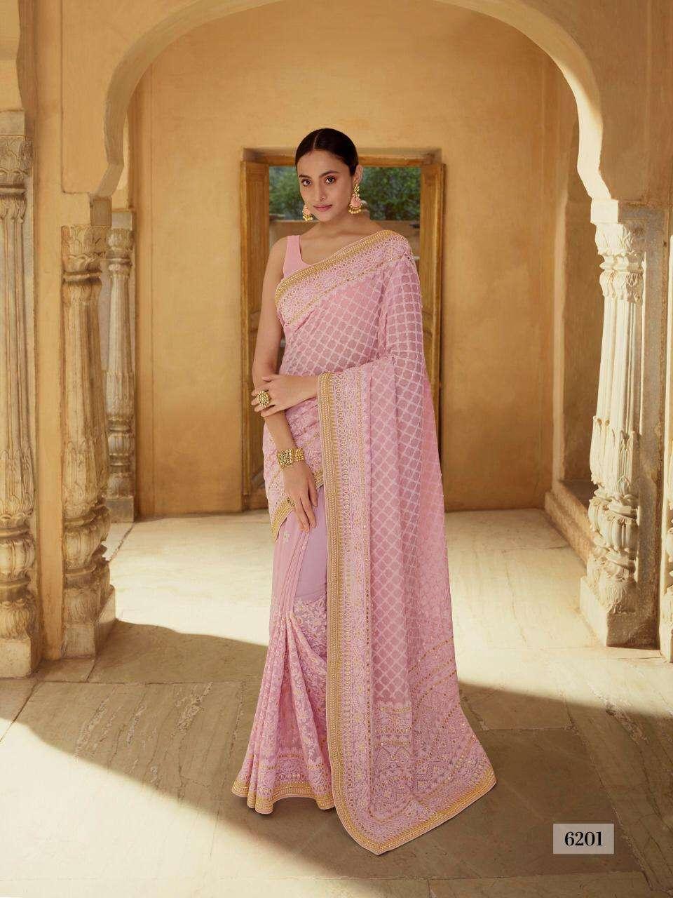 Arya designs Swara 6201 to 6212 Series Party Wear Designer Saree Collection