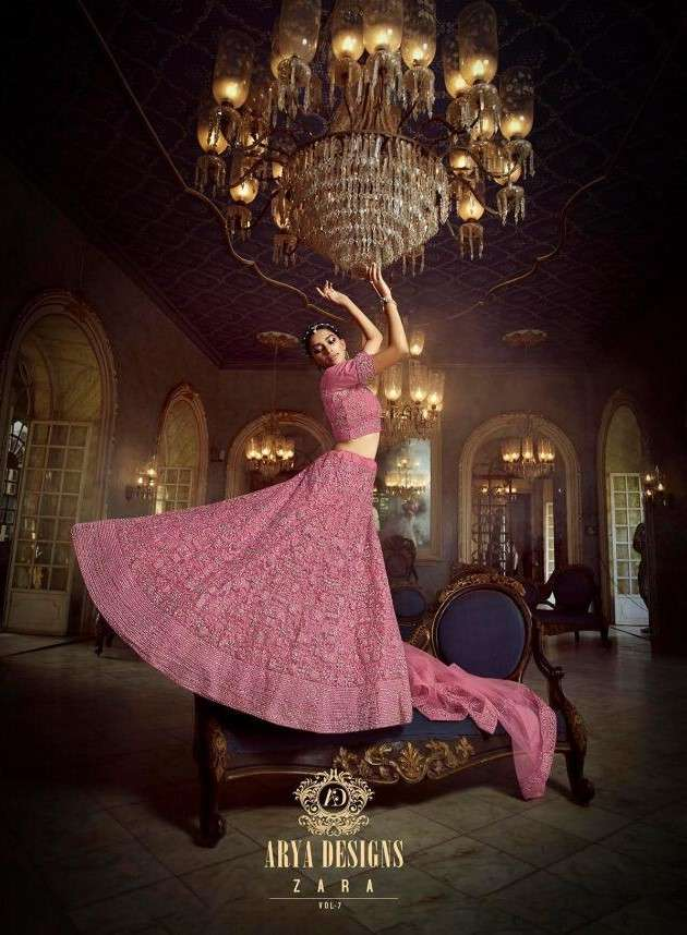 Arya Designs Zara Vol 7 Designer Heavy Work lehenga Choli catalog Wholesaler