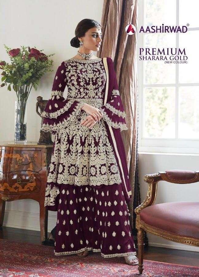 Ashirwad premium Sharara Gold Party Wear Dress Collection in Surat
