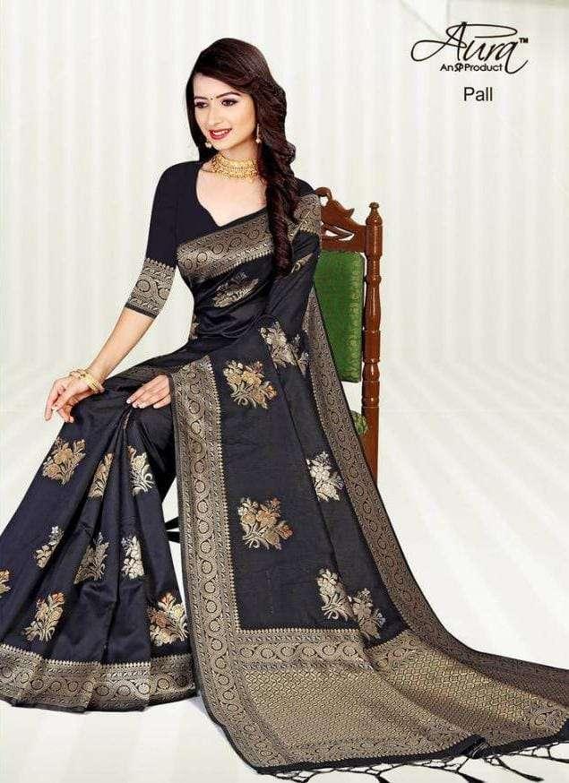 Aura Pall fancy Cotton Silk Saree Catalog Wholesale Supplier