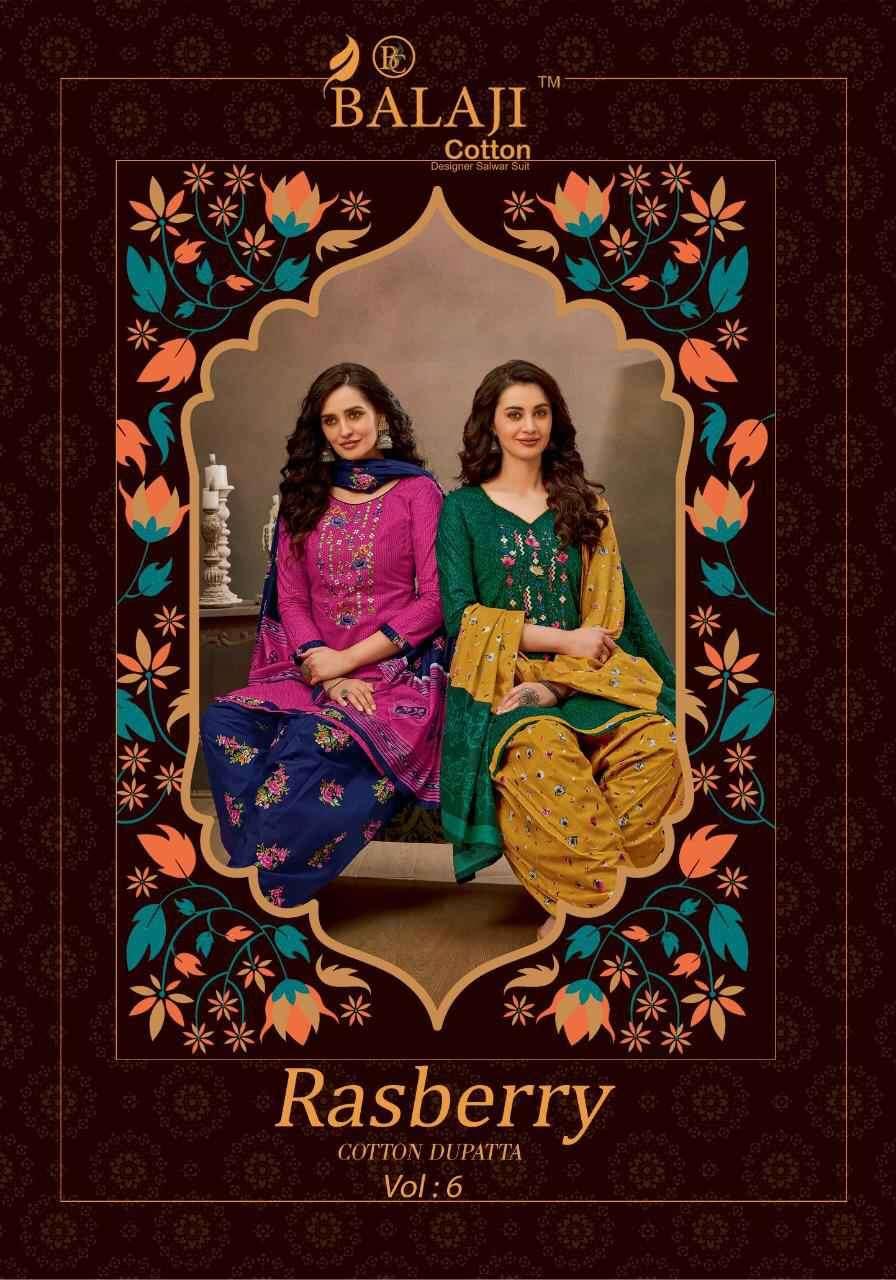 Balaji Cotton Rasberry Vol 6 Fancy Cotton Salwar Dress Material
