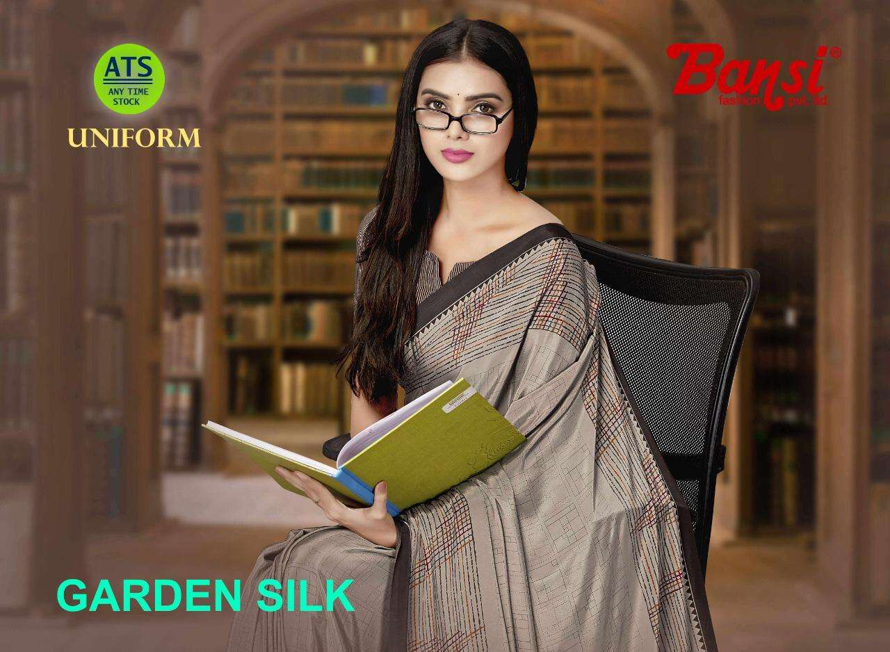 Bansi Garden Silk Printed Crepe Saree catalog Wholesale Dealer