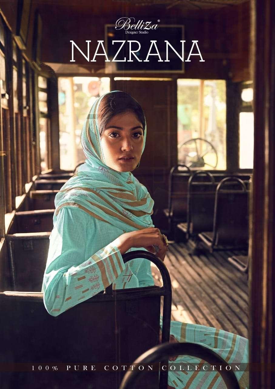 Belliza Nazrana Exclusive Designer Cotton Print Ladies Suit Wholesaler