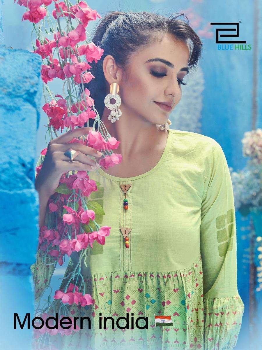 Blue Hills Modern India Vol 1 Cotton Short tops Catalog Wholesaler