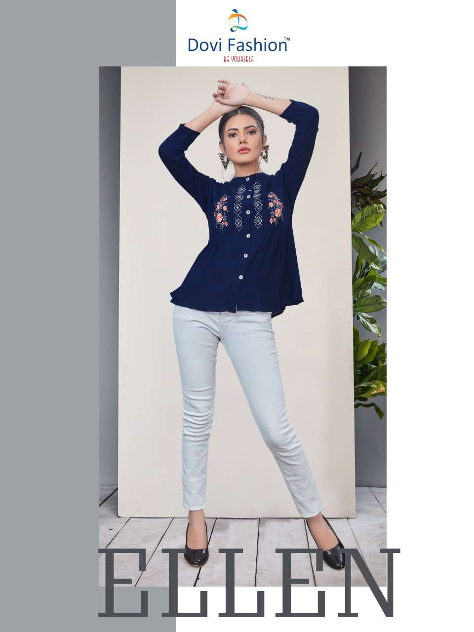 Dovi Fashion Ellen Fancy Western Tops For Ladies in Best Price