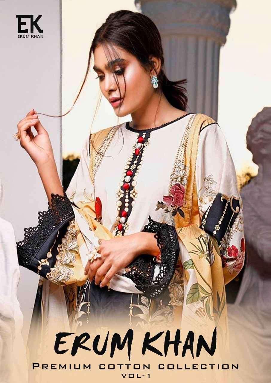 Erum Khan Premium Cotton Collection Vol 1 Printed Dress Material