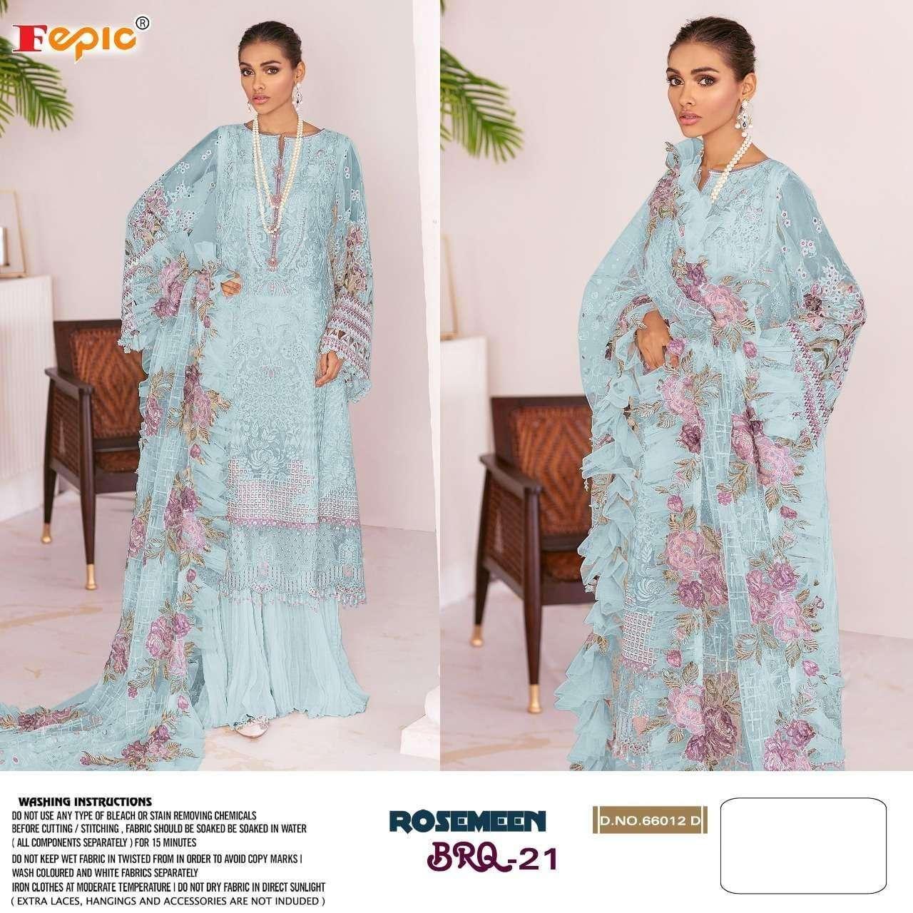 Fepic Rosemeen 66012 Colors Pakistani Salwar Kameez In Wholesale