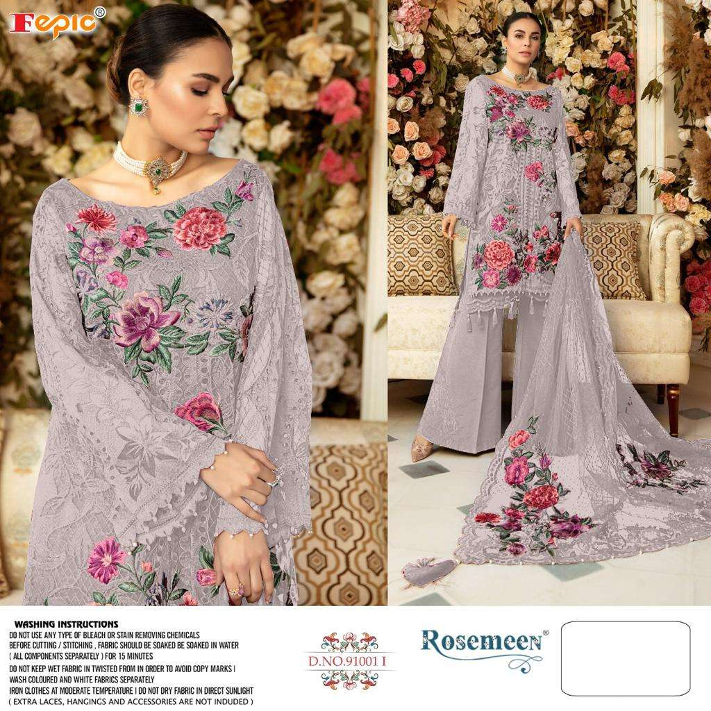 Fepic Rosemeen 91001 Colors Designer Pakistani Suit Catalog Supplier