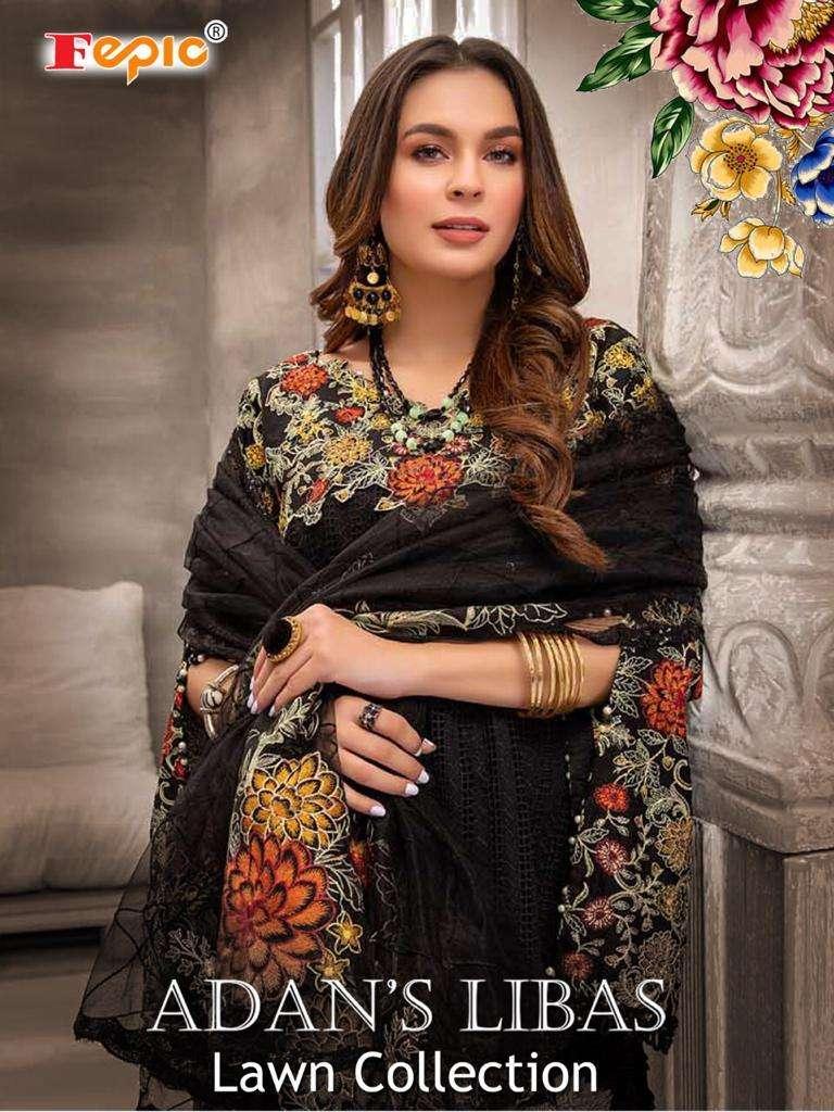 Fepic Rosemeen Adan Libas Lawn Collection Pakistani Suit Catalog Wholesaler