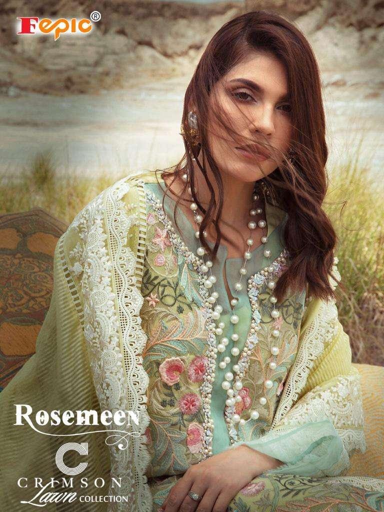 Fepic Rosemeen Crimson Lawn Collection Pakistani Suit Catalogs
